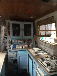 Kitchen idea borrowed from a narrowboat.                                                                                                                                                                                 More