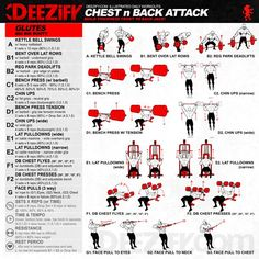 workout chest n back attack