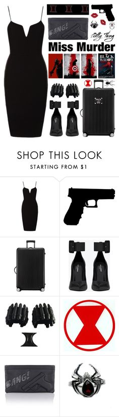 """""""Pack and Go: Black Widow edition"""" by mockingjayafire ❤ liked on Polyvore featuring Rimowa, Yves Saint Laurent and F"""