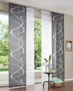 Sliding curtain Pelotas DEKO TRENDS Velcro tape piece) without mounting accessories Sliding Curtains, Drapes And Blinds, Sliding Panels, Ikea Curtains, Modern Curtains, Door Curtains, Blinds For Windows, Window Coverings, Window Treatments