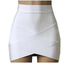803174db0b XTX Womens Empire Waist Cross Stylish Trend Bodycon Skirt White XS >>> ** AMAZON  BEST BUY ** #SummerOutfit