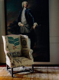 Una #tapicería diferente :: Sacos de café reciclados o tela de yute, ¿te atreves?