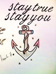 Love this! Id use a more retro anchor & place on back of my arm by my elbow