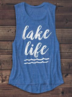 About Lake Life Shirt - Women's Muscle Tee - Muscle Tank tank top is Made To Order, we print one by one so we can control the quality. We use DTG Technology to print Lake Life Shirt - Women's Muscle Tee - Muscle Tank Boat Shirts, Vinyl Shirts, Workout Tops, Workout Shirts, Lake Pictures, Lake Life, Muscle Tanks, Summer Shirts, Shirts With Sayings