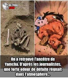 On a retrouvé l'ancêtre de Yamcha... - Be-troll - vidéos humour, actualité insolite Otaku Anime, Manga Anime, Dbz Evolution, Dragon Ball Z, Goku And Gohan, Video Humour, Image Fun, Anime Merchandise, Anime Costumes