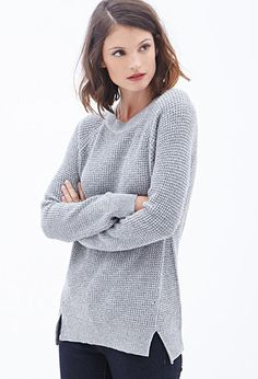 Waffle Knit Sweater | FOREVER21 - 2000059905