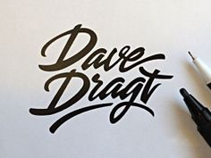 Inspiration hand lettering by Paul Van Excite