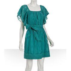 Shoshanna Cotton-silk Woven Dot Jacquard Dress Brand: Shoshanna Color: Green Turquoise Fabric:Cotton-silk Design:Woven Dot Jacquard Dress Shoshanna Dresses