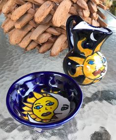 A personal favorite from my Etsy shop https://www.etsy.com/listing/505478841/talavera-mexican-ceramics-pitcher-and