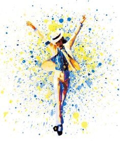 Watercolor Michael Jackson print art matte by AmorImprimo on Etsy
