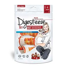 """Salix Digest-eeze Rawhide Beef and Chicken Bones (4 Pack), 4"""" -- Be sure to check out this awesome product."""