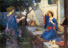 J. W. Waterhouse : The Annunciation 1914