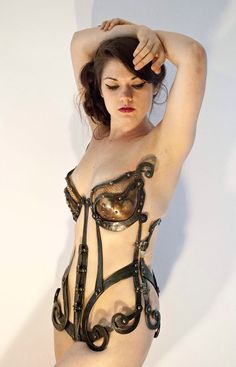 Forged Corset by Ellen Durkan an American artist blacksmith http://ellendurkan.com/Home_Page_L4AD.php