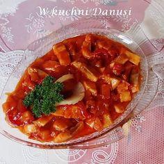CO MI W DUSZY GRA: ŚLEDZIE Z SALSĄ Vegan Ramen, Ramen Noodles, Gra, Thai Red Curry, Seafood, Recipies, Fish, Cooking, Ethnic Recipes