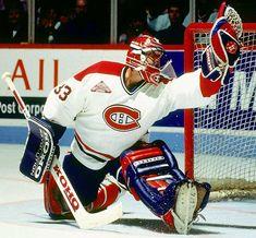 Patrick Roy, Montreal Canadiens- fave goalie of all time Montreal Canadiens, Mtl Canadiens, Hockey Goalie, Hockey Games, Hockey Sport, Patrick Roy, Patrick Kane, Saint Patrick, Hockey Highlights
