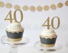 Cupcake Wrappers zwart en goud Cupcake Wrappers Black and