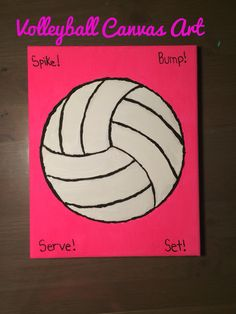 Volleyball Canvas Art!