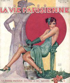 La Vie Parisienne, February 3, 1934  Cover by Leonnec