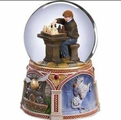 harry potter snow globes | ... -Weasly-Harry-Potter-Sorcerers-Stone-Chess-Water-Snow-Globe-Music-Box