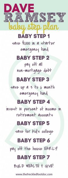 Dave Ramsey Baby Step Plan to Pay Off Debt and Build Wealth. How to pay off debt fast and how to make a budget for beginners. # credit card debt payoff dave ramsey Dave Ramsey Baby Steps + (Free Printables) - The Frugal Foot Doc Budgeting Finances, Budgeting Tips, Dave Ramsey Debt Snowball, Faire Son Budget, Debt Snowball Worksheet, Amigurumi For Beginners, Money Makeover, Paying Off Credit Cards, Budget Planer