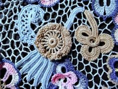Irish Crochet Together: Modern Lace--Olgemini's Blue Dress
