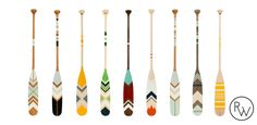 Ropes and Wood - beautiful canoe oars, don't want them, but it captures the idea