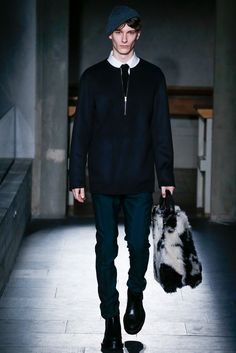 Marni Fall 2015 Menswear - Collection - Gallery - Style.com // Workwear and Streetwear lines blurred