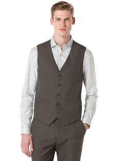 Big and Tall Corded Twill Stripe Vest