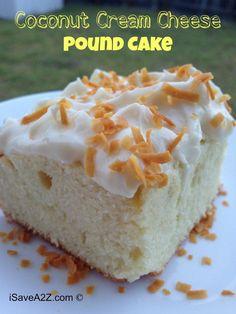 Coconut Cream Cheese Pound Cake Recipe
