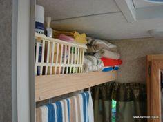 Shelf above toilet?  RV Modifications - The RV Road Trip USA Blog