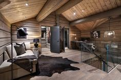no # cabin interior Stallkabine lhmgruppen Space Interiors, Cabin Interiors, Villa Design, Cabin Homes, Log Homes, Modern Cabin Interior, Tiny House, Timber Walls, Interior Decorating
