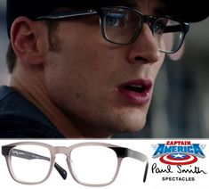 Chris Evans as Captain America wearing Paul Smith Campbell