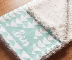 Personalized Baby Blanket Monogram Baby by HelloDearestBaby