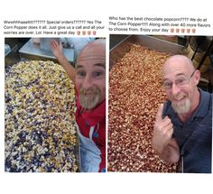 In my town there's a little homemade speciality popcorn shop owned by this man, he posts a selfie of him with popcorn daily and wishes everyone a good day : MadeMeSmile Funny Cute, The Funny, Hilarious, Popcorn Shop, Faith In Humanity Restored, Cute Stories, Quality Memes, Funny Relatable Memes, Tumblr Funny