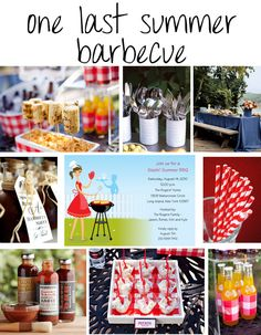 bbq inspirations board A Barbecue Party Inspiration   An End of Summer Celebration