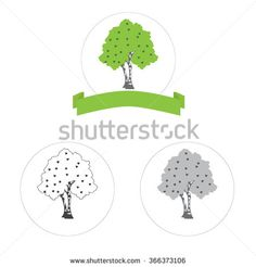 bitch tree vector logo concept or internet icon three versions - stock vector
