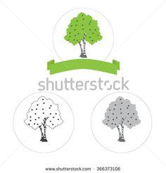 bitch tree vector logo concept or internet icon three versions - stock vector
