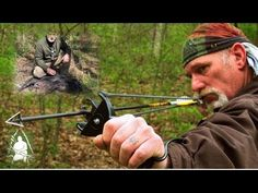 Using the Slingshot to Hunt Bigger Game Go to 6:36 on video to see the action