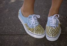 DIY Studded Sneakers   Vans Giveaway