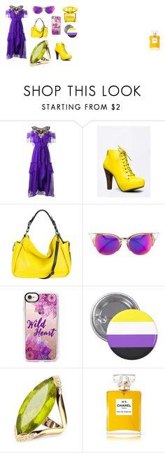 """Colores Complementarios"" by cnamikawa on Polyvore featuring moda, Alberta Ferretti, Qupid, MOFE, Fendi, Casetify, Forzieri, Chanel y Versace"