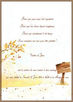 faire part de mariage pas cher cerise automne or jm502 faire part de mariage pas cher - Texte Faire Part Mariage Champetre