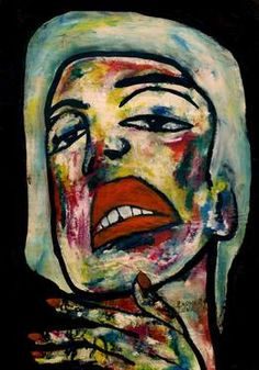 "Saatchi Art Artist CARMEN LUNA; Painting, ""91-RETRATOS Expresionistas. Silencio."" #art http://www.saatchiart.com/art-collection/Painting-Assemblage-Collage/Expressionist-Portrait/71968/51263/view"