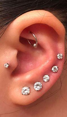 Nose Ring Diamond Cut Hoop 20 GA Or Platine Argent Septum Belly Helix Tragus