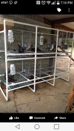 How to stack rabbit cages so they don 39 t poop on each other for Pvc rabbit cage