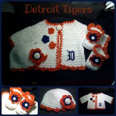 $30.00 Custom made baby sweater set, includes sweater, booties, and hat.  Made to order per your specifications.