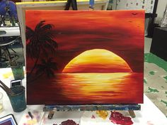 My Sunset painting