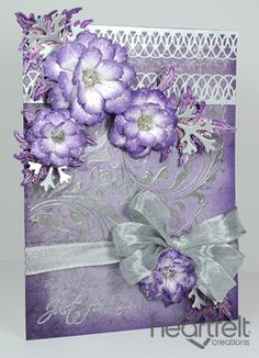 Heartfelt Creations | Sweet Plum And Silver Blooms