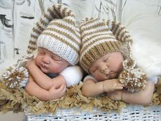 b262f710ed9 Items similar to Baby Boy Girl Pixie Hats for Twins