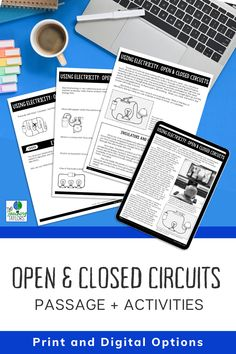 Electrical circuits are a student favorite. They love knowing how electricity makes devices work. Use this set of activities for you next lesson plan. Includes reading passage, sorting activity and a quiz for assessment. Perfect for kids in 4th grade and 5th grade science. 5th Grade Science, Science Student, Elementary Science, Elementary Teacher, Upper Elementary, Elementary Schools, Sorting Activities, Science Activities, Thermal Energy