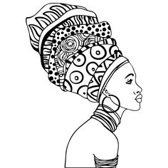 African American Woman Coloring Pages